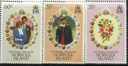GN0772 Norfolk 1981 Prince Charles Wedding 3v MNH - Norfolk Island