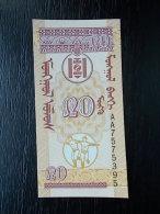 Mongolia - 20 MONGO - UNC - Mongolia