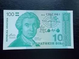 HRVATSKA - 100 DINARA - 1991 - UNC - Croatie