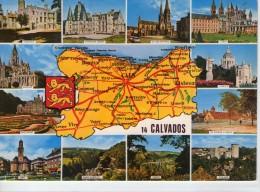 Calvados.. Département Du Calvados.. Carte Géographique.. Caen.. Lisieux.. Creully.. Vire.. Clécy.. Falaise - Herouville Saint Clair
