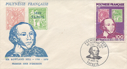 X113172 POLYNESIE FRANCAISE TAHITI PAPEETE ENVELOPPE PREMIER JOUR ROWLAND HILL 1 AOUT 1979