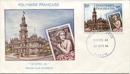 X113173 POLYNESIE FRANCAISE TAHITI PAPEETE ENVELOPPE PREMIER JOUR �� SYDPEX 80 ��  29 SEPTEMBRE 1980