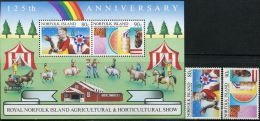 GN0795 Norfolk 1985 Agricultural Associations Cow Eggs 2v+S/S MNH - Isola Norfolk