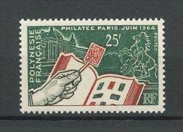 POLYNESIE 1964 N° 26 Neuf ** = MNH Superbe Cote 18,60 € Exposition Philatec Timbres Sur Timbre Chevaux Horses - Polynésie Française