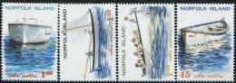 GN0808 Norfolk 2001 Fishing Boats 4v MNH - Isola Norfolk