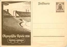 ENTIER POSTAL JEUX OLYMPIQUES 1936 - Allemagne