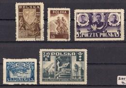 Pologne 1946 YT 465 / 468 °   469 / 470 /471 * - 1944-.... República