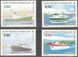 Saint-Pierre & Miquelon 1994 Yvert 599 - 602 Neuf ** Cote (2015) 12.00 Euro Vieux Bateaux - Neufs