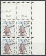 FINNLAND 1983 MI-NR. 919 Eckrandviererblock ** MNH (99) - Finland