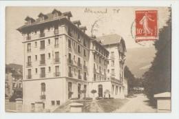 38 Dép.- Allevard - Hôtel. Cachet Photographe V. DE BUISSON PHOT. ALLEVARD. Carte Postale Ayant Voyagé En 1909, Dos Sépa - Allevard