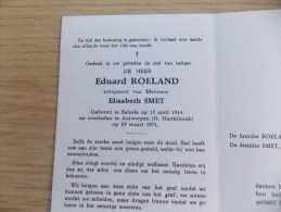 Doodsprentje Eduard Roeland Belsele 15/4/1914 Antwerpen 19/3/1971 ( Elisabeth Smet ) - Religion & Esotérisme