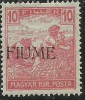 FIUME 1918 - 1919 MIETITORI E VEDUTA REAPERS AND VIEW 10 F MLH FIRMATO SIGNED - Fiume