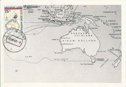 D20516 CARTE MAXIMUM CARD FD 1988 NETHERLANDS - MAP OF AUSTRALIA CP ORIGINAL - Geografia