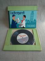 Guide Interprète VISAPHONE Italien Italiano éditions Witte 1956 Belles Illustrations De J.Neumeister. 19 Photos - Livres Parlés
