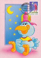 D20537 CARTE MAXIMUM CARD RR FD 1991 NETHERLANDS - MOON - COMICAL CARD ORIGINAL - Astronomie