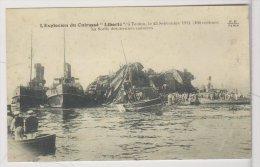 BAT.L124 - Photo De L'Explosion Du Cuirassé LIBERTE à Toulon Le 25 Septembre 1911 - FF Paris - Reproductions