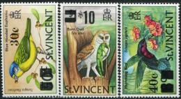 GN0873 St. Vincent 1973 Birds Overprint 3v MNH - St.Vincent (...-1979)