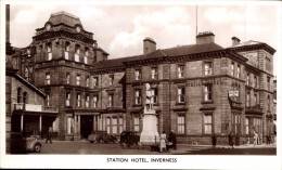 RP: STATION HOTEL, INVERNESS, SCOTLAND ~ Pu1939 ~ Nicely Animated / Advertising - Inverness-shire