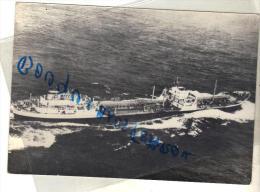 CARTE POSTALE MODERNE NOIR BATEAU PETROLIER SAMARRAH COMPAGNIE NAVALE DES PETROLES CNP 1956 ACL SAINT NAZAIRE CHANTIER - Tanker