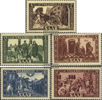 Saar 299-303 (complete Issue) Unmounted Mint / Never Hinged 1950 Volkshilfe - 1947-56 Protectorate