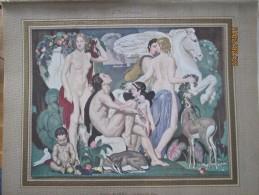 1936 Gravure : La Voix De Pan De Emile AUBRY (Société Des Artistes Français )   Peinture  Peintre - Vieux Papiers