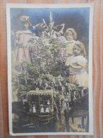 - Cpa - Enfants - Joyeux Noêl - Lot 3 Cartes Postale -  + Une Cadeau - Houx - - Noël