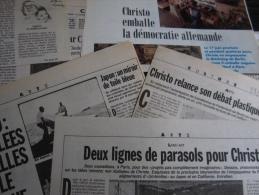 Christo : 11 Articles (Libération-Le Monde- Évènement Du Jeudi) Parus Entre 1985 & 1995 - Arte