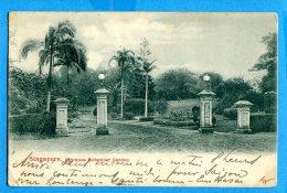 Madd038, Singapore, Entrance Botanicer Gardan,  Précurseur, Circulée Timbre Décollé - Singapore