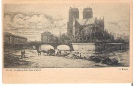 No. 270 L'Abside De Notre Dame De Paris By Ch. Meryon - Peintures & Tableaux