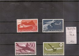 LIECHTENSTEIN  Série De Timbres Neufs ** De 1960 ** ( Ref 171 A  ) Avions / Planes - Poste Aérienne