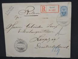FINLANDE-Entier Postal En Recommandé De Nystad Pour Leipzig En 1896   Rare  à Voir Lot P6848 - 1856-1917 Russian Government