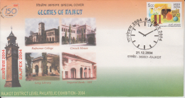 India  2000  Rajkot  Clock Tower  Special Cover # 84918 - Clocks
