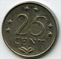 Antilles Neérlandaises Netherlands Antilles 25 Cents 1975 KM 11 - Antilles Neérlandaises