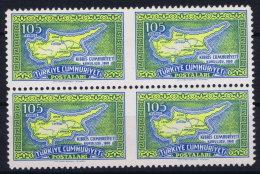 Turkey: 1960 Mi 1766 Ul Ur  MNH/** Postfrisch In 4 Block Middle Imperforated - 1921-... Republic