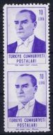 Turkey: 1961 Mi 1819  MNH/** Postfrisch In 2 Block Middle Imperforated - 1921-... Republic