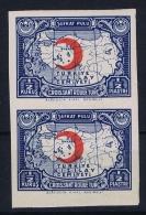 Turkey: Mi Nr 43 II  Kizilay, Pair MNH/** Unperforated - 1921-... Republic