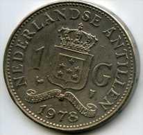 Antilles Neérlandaises Netherlands Antilles 1 Gulden 1978 KM 12 - Antilles Neérlandaises