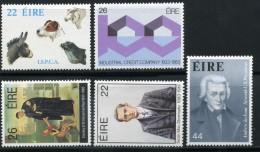 1983 IRLANDA SERIE COMPLETA 5 VALORI NUOVA** - 1949-... Repubblica D'Irlanda
