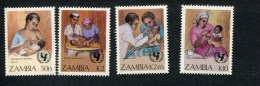 320363547 ZAMBIA  POSTFRIS MINT NEVER HINGED  YVERT 437 438 439 440 SURVIE DE L ENFANT - Zambie (1965-...)