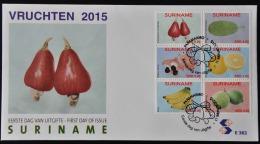 REP. SURINAME FDC E 382 VRUCHTEN FRUITS BLANK