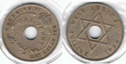 AFRICA DEL OESTE PENNY 1944 - Monedas