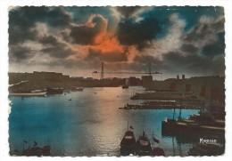 MARSEILLE, COUCHER DE SOLEIL SUR LE VIEUX PORT - Bouches Du Rhône 13 - Circulé 1943 - Edit. Mireille - Vecchio Porto (Vieux-Port), Saint Victor, Le Panier