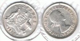 AUSTRALIA 6 PENCE 1958 PLATA SILVER - Sin Clasificación