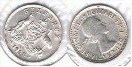 AUSTRALIA 6 PENCE 1958 PLATA SILVER - Australia