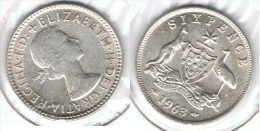 AUSTRALIA 6 PENCE 1963 PLATA SILVER - Australia