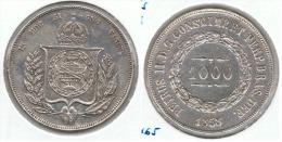 BRASIL 1000 REIS 1858 PLATA SILVER D19 - Brasil