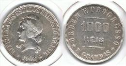 BRASIL 1000 REIS 1908 PLATA SILVER D10 - Brasil