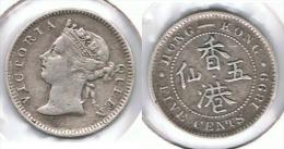 HONG KONG VICTORIA 5 CENTS DOLLAR 1899 PLATA SILVER - Hong Kong