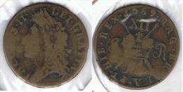 R.U. INGLATERRA JACOBO II HALF PENNY 1689 - Comercio Exterior, Ensayos, Contramarcas Y Acuñaciones