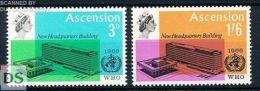 Michel 102/03 MNH / Neuf / Postfrisch Ascension  - W.H.O. - Architecture / Build - Ascensione